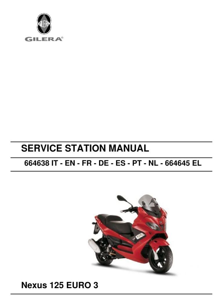 gilera nexus 500 euro 3 service repair workshop manual
