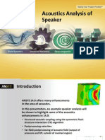 ANSYS 14 Structural Mechanics Acoustics Analysis Speaker