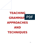 32940484 Compendiu m in Teaching Grammar Its Techniques Approaches and Strategies