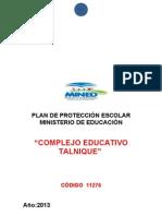 PLAN DE PROTECCIÓN ESCOLAR