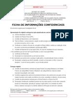 FICHA DE INFORMAÇÕES CONFIDENCIAIS CFP PMCE2013