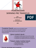 Skrining Pre Transfusi Presentasi