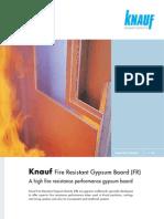 Kn Auf Fire Resistant Gypsum Board Data Sheet