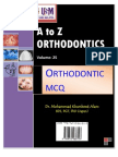 A to Z Orthodontics MCQ