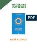 128131324 Guenon Precisiones Necesarias Comparado
