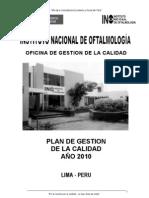 1.Plan de Gestion de La Calidad 2010