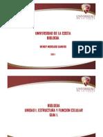 Unidad 1. Estructura y Funcion Celular