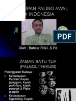 Kehidupan Paling Awal Di Indonesia