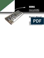 MicroKorg Manual