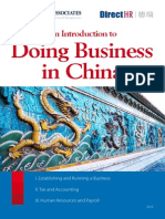An Introduction to Doing Business in China 2012