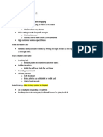 Retail Management study guide
