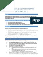 Petunjuk Singkat Program Bidikmisi 2013