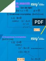 Solucion de Una Ecuacion de Segundo Grado