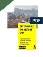 27-02-13 Côte d'Ivoire - the Victors' Law