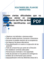 11. Dificultades Del Plan de Marketing