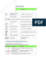 Common Proofreading Symbols