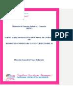 Norma SI unidades y Guía 2011