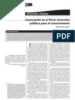 Inversion Publica y Conocimiento