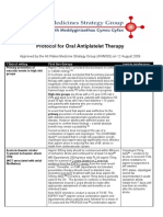 Antiplatelet Template Approved by AWMSG August 2009