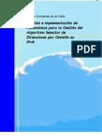 Analisis e Implementacion de Mecanismos Para La Gestion Del Algoritmo Selector de Direcciones Por Omision en IPv6