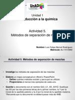 QUI_U1_A5_LUBR - Metodo Separaicon de Mezclas