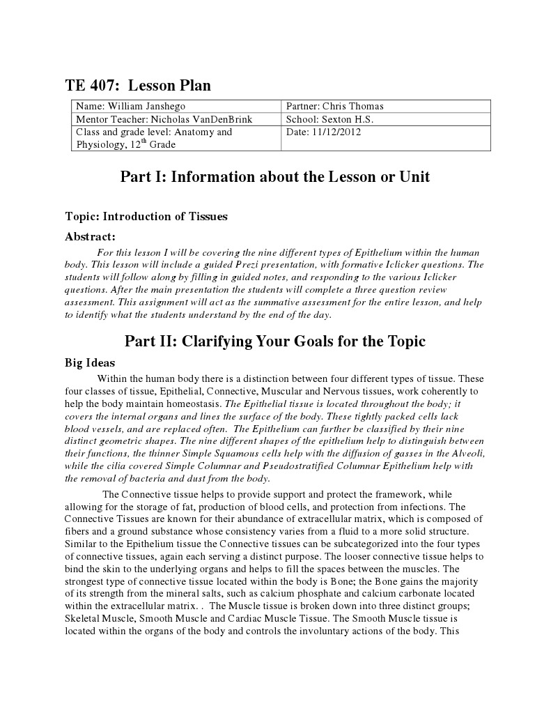 epithelial tissue lesson plan 1   Epithelium   Tissue (Biology)