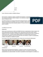 Informe académico y de disciplina segundo periodo