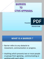 HR Final Barriers to Effective Performance Appraisal