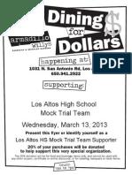 LAHS Mock Trial Fundraiser