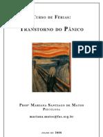 Transtorno Do Panico - Prof Mariana Santiago de Matos