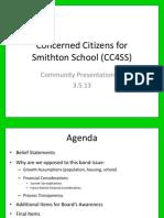 Final CC4SS Community Meeting #1 Presentation 3.5.13