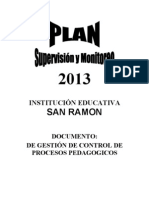 Plan Supervisin Monitoreo 2013