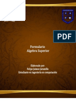 Formulario Final Algebra