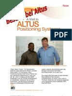 American Surveyor Besucht Altus Positioning Ssystems, Hersteller des APS-3