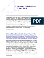 Predictably Restoring Endodontically Treated Teeth