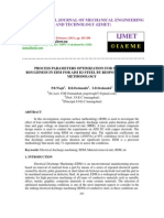 Process Parameters Optimization for Surface Roughness in Edm for Aisi d2 Steel