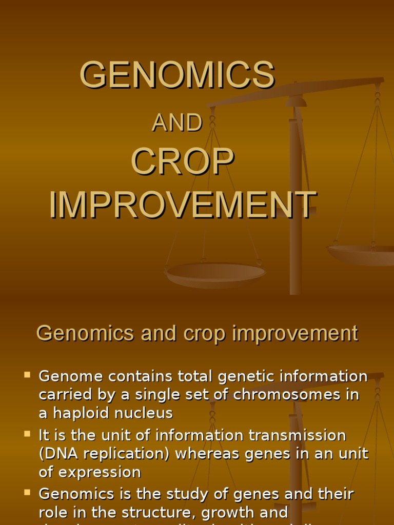 Genomics and Crop Improvement | Gene | Gene Expression