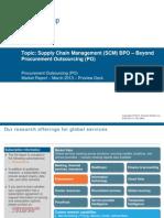 Supply Chain Management (SCM) BPO – Beyond Procurement Outsourcing (PO)