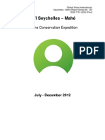 GVI Seychelles Formal (Phase) Report - Mahe Jul - Dec 12