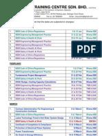 Iem Course 2013 - Calendar