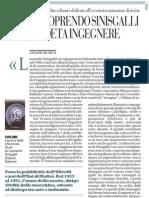Riscoprendo Sinisgalli Il Poeta Ingegnere Repubblica 4 Marzo 2013