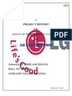 Project report on  Lg electronics