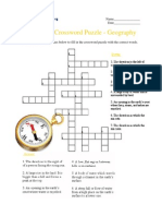 Advanced Crossword Puzzle, Geography