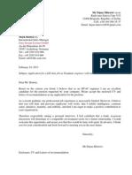 Cover Letter Dejan Mitrovic