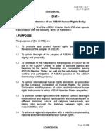 Draft of ASEAN Human Right Body