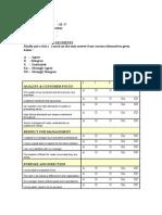 Job Satisfaction - Questionnaire