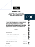 16013057 CIMA P1 Management Accounting Performance Evaluation Solved Past Papers