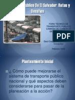 Propuestas de mejora del  transporte público de El Salvador