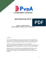 PvdA Amsterdam Centrum Jaarrekening