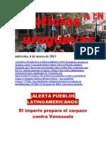 Noticias Uruguayas miércoles 6 de marzo del 2013